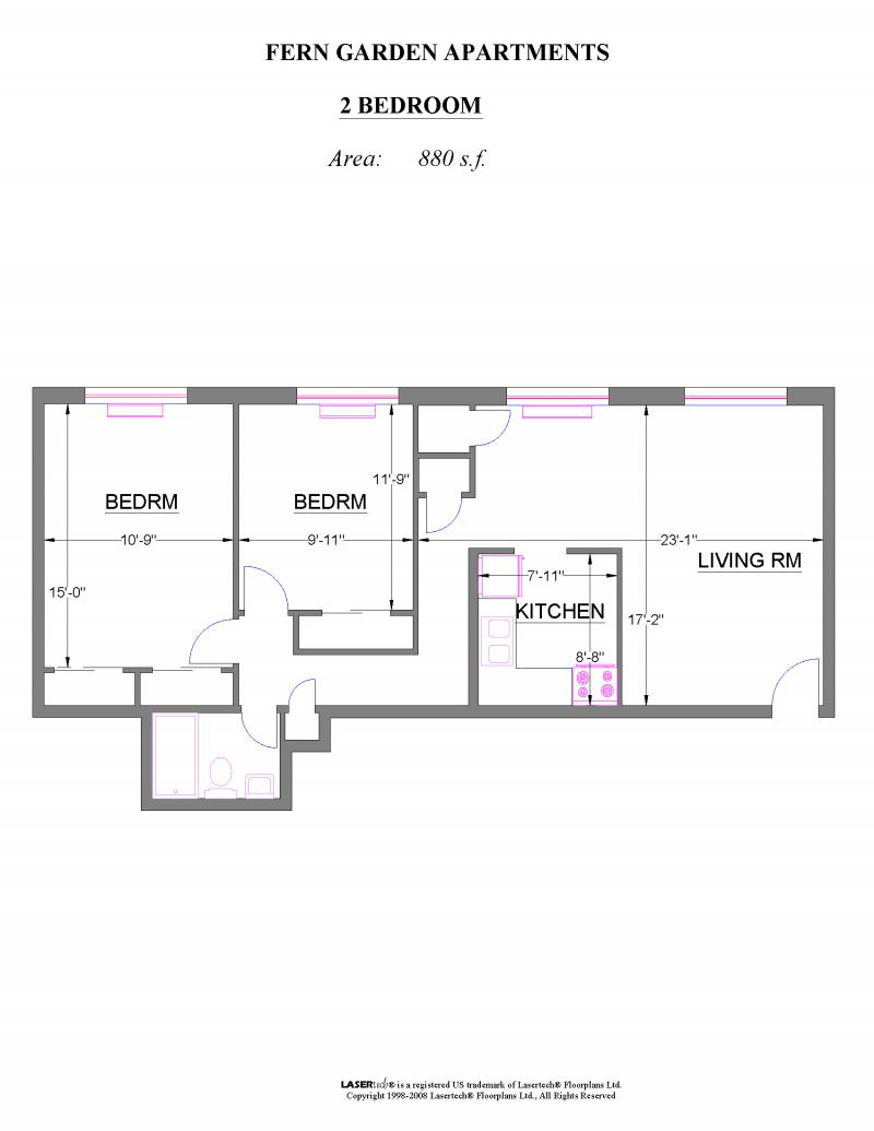 Garden apartment floor plans frederick gardens for Backyard apartment floor plans